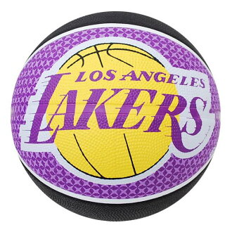 NBA Los Angeles Lakers TEAM RUBBER ball 2011 (7, sphere-black/purple) SPALDING