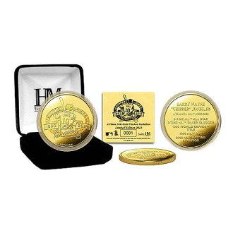 MLB Atlanta Braves # 10 Chipper Jones Career Gold Coin The Highland Mint