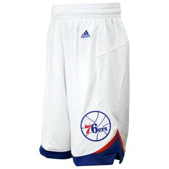 And the NBA Philadelphia 76ers Revolution Swingman shorts home Adidas
