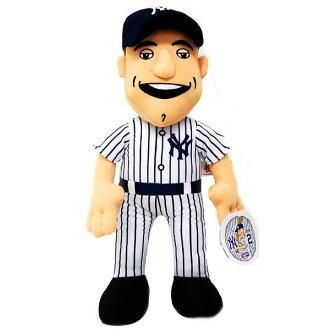 -MLB Yankees # 2 Derek Jeter Inch Plush Doll Bleacher Creatures
