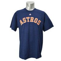 MLB アストロズ Tシャツ ネイビー マジェスティック New Wordmark Tシャツの画像
