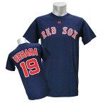 MLB レッドソックス 上原浩治 Tシャツ ネイビー マジェスティック Player Tシャツ JPN Ver