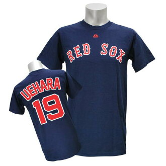 Majestic MLB Red Sox # 19 Uehara Koji Player T shirt JPN Ver (Navy)