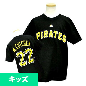 And the MLB pirates Andrew McCutchen Kids T shirt black majestic Player T shirt Youth