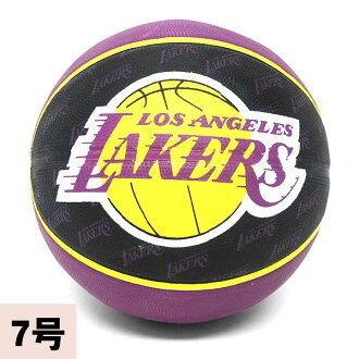 2013 (black / purple -7 ball) NBA Los Angeles Lakers TEAM RUBBER ball SPALDING