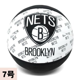 2013 (white / black -7 ball) NBA Brooklyn Nets TEAM RUBBER ball SPALDING