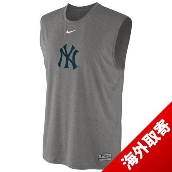 Nike MLB New York Yankees AC Dri-Fit Legend Logo Sleeveless T shirt (gray)