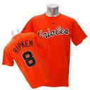 MLB オリオールズ カル・リプケン Tシャツ オレンジ マジェスティック Cooperstown Player Name & Number Tシャツ