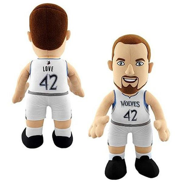 NBA Timberwolves # 42 Kevin Love Inch Plush doll Bleacher Creatures