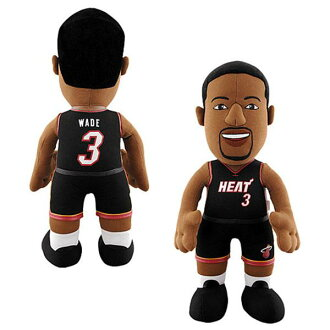NBA heat # 3 Dwyane Wade Inch Plush doll Bleacher Creatures