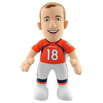 NFL Broncos # 18 Peyton Manning Inch Plush doll Bleacher Creatures