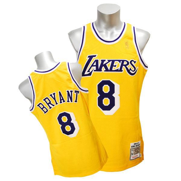 NBA レイカーズ コービー・ブライアント ユニフォーム 1996-1997/ゴールド ミッチェル&ネス Throwback Authentic ユニフォーム【セール】