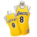 NBA レイカーズ コービー・ブライアント ユニフォーム 1996-1997/ゴールド ミッチェル&ネス Throwback Authentic ユニフォーム【1802..