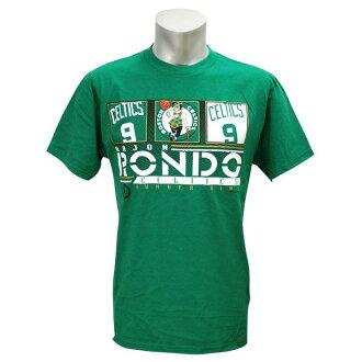 NBA Celtics #9 lei John rondo MA92 Rond T-shirt (green) Majestic
