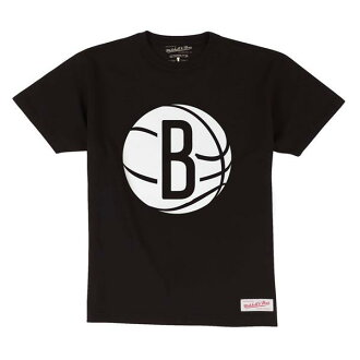 NBA Brooklyn Nets Current Logo T-shirt (black) Mitchell&Ness