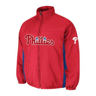 MLB Phillies Authentic Double Climate On-Field jacket (red) Majestic