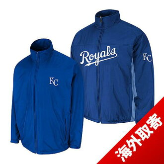 -1 MLB Kansas city Royals Authentic Triple Climate 3-In On-Field jacket (blue) Majestic