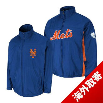 -1 MLB New York Mets Authentic Triple Climate 3-In On-Field jacket (blue) Majestic