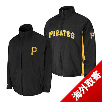 -1 MLB Pittsburgh Pirates Authentic Triple Climate 3-In On-Field jacket (black) Majestic