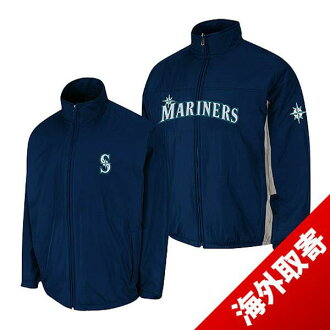Majestic MLB Seattle Mariners Authentic Triple Climate-in-1 On-Field jacket (Navy)