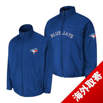-1 MLB Tronto Blue Jays Authentic Triple Climate 3-In On-Field jacket (blue) Majestic