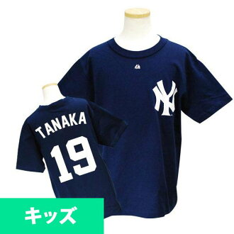 MLB Yankees #19 Masahiro Tanaka Youth Player T-shirt JPN Ver (navy) Majestic