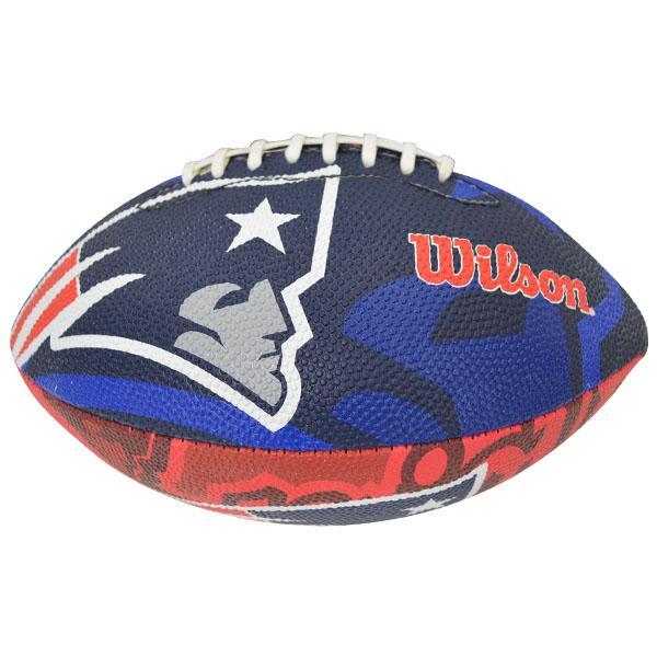 NFL ペイトリオッツ ボール ウィルソン/Wilson Junior Super Grip Rubber Football