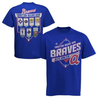 MLB Atlanta Braves T Shirt Blue majestic /Majestic (Copperstown Game Obsessed T-Shirt)
