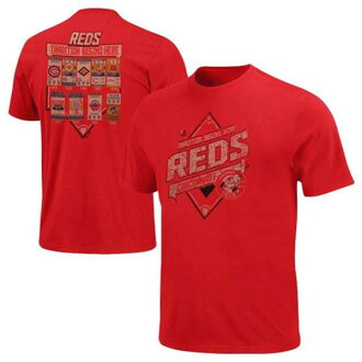 MLB reds T Shirt red majestic /Majestic (Copperstown Game Obsessed T-Shirt)