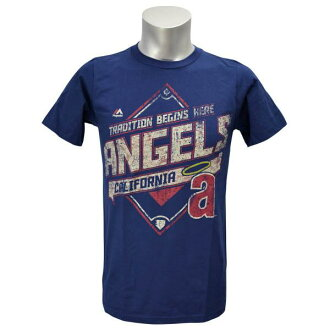 Majestic MLB California Angels Cooperstown Game Obsessed T shirt (Navy)