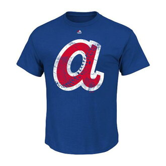 Majestic MLB Atlanta Braves Cooperstown Rooted In Nostalgia T shirt (blue)