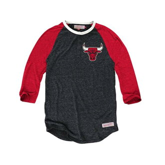 NBA Chicago Bulls Hustle Play Henley shirt (black / red) Mitchell&Ness