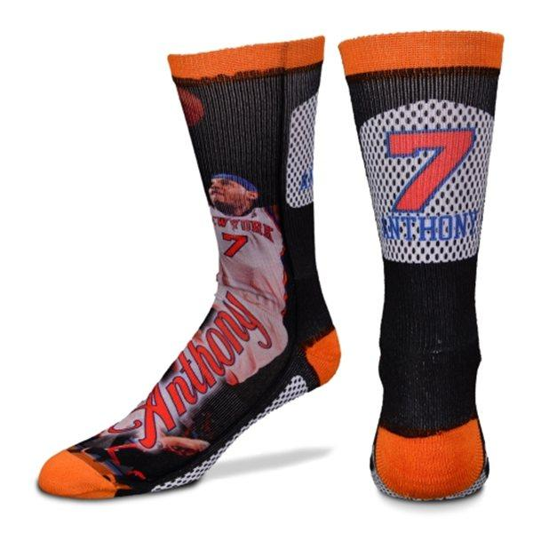 NBA Knicks #7 car Melo Anthony Player Promo Crew socks For Bare Feet