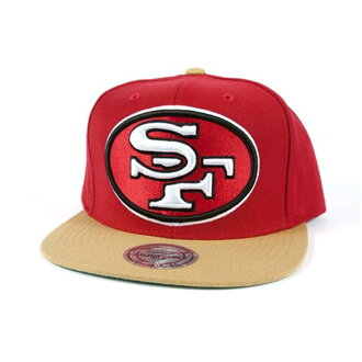 NFL San Francisco 49ers XL Logo 2T Snapback cap (scarlet / gold) Mitcell&Ness