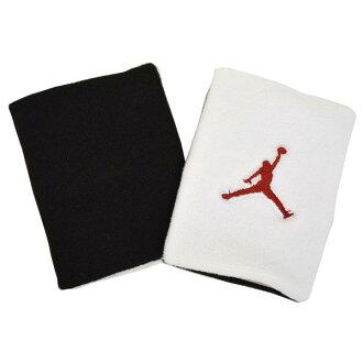 耐克 Jordan /NIKE 約旦腕帶白色和黑色和紅色飛人