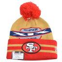 NFL 49ers スーパーボウル スーパー ワイド ポイント ニットキャップ/帽子 ニューエラ/New Era