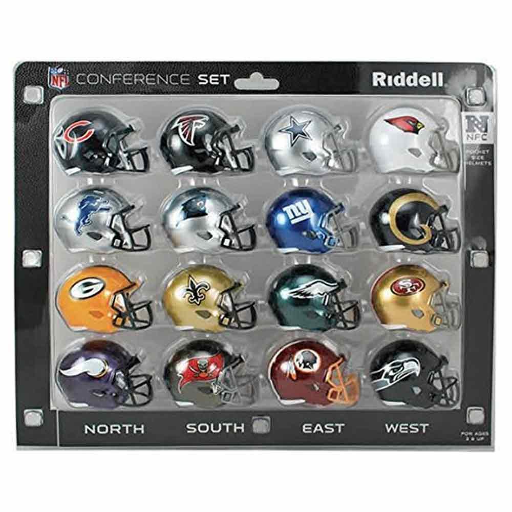 NFL NFC ミニ レプリカ ヘルメット カンファレンスセット (SPEED) リデル/Riddell