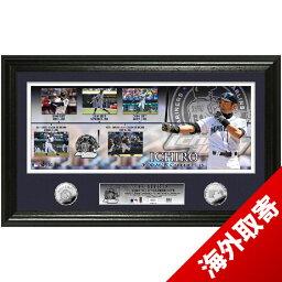お取り寄せ MLB マリナーズ イチロー 3000安打達成記念 シルバーコイン フォトミント ハイランドミント
