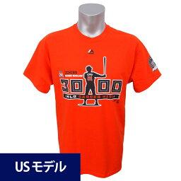 MLB マーリンズ イチロー メジャー通算3000安打達成記念 シルエット Tシャツ マジェスティック オレンジ