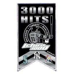 MLB マーリンズ イチロー メジャー通算3000安打達成記念 バナー ピンバッジ アミンコ/Aminco
