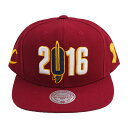 NBA キャバリアーズ 2016 スナップバック キャップ/帽子 ミッチェル&ネス/Mitchell & Ness バーガンディ