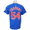 MLB カブス アロルディス・チャプマン ワールドチャンピオン ネーム&ナンバーTシャツ マジェスティック/Majestic ロイヤル