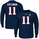 お取り寄せ NFL ペイトリオッツ ジュリアン・エデルマン スーパーボウル LI エリジブル レシーバー ネーム&ナンバー ロングTシャツ