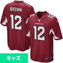 美式足球 - お取り寄せ NFL カーディナルス ジョン・ブラウン ユース ゲーム ユニフォーム ナイキ/Nike カーディナル