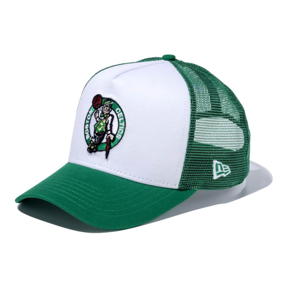 NBA セルティックス 9FORTY Dフレーム トラッカー メッシュ キャップ/帽子 ニューエラ/New Era ホワイト/ケリー