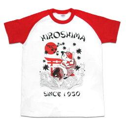 広島カープ グッズ 鯉坊や ラグラン Tシャツ スペースエイジ/Space Age ホワイト/レッド
