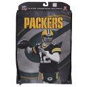 NFL パッカーズ アーロン・ロジャース プレイヤー プリント ナップサック/バックパック/リュック メンズ レアアイテム