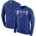 お取り寄せ NFL ビルズ レジェンド スタッフ パフォーマンス ロング Tシャツ ナイキ/Nike ロイヤル