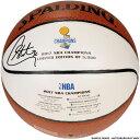 お取り寄せ NBA ウォリアーズ ステファン・カリー 直筆サイン入り 2017 ファイナル優勝記念 ホワイトパネル バスケットボール スポルディング/SPALDING