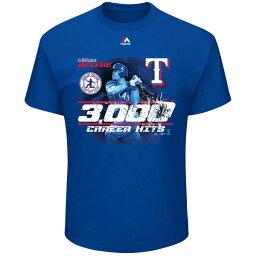 お取り寄せ MLB レンジャーズ エイドリアン・ベルトレ 3000本安打記念 Tシャツ マジェスティック/Majestic ロイヤル